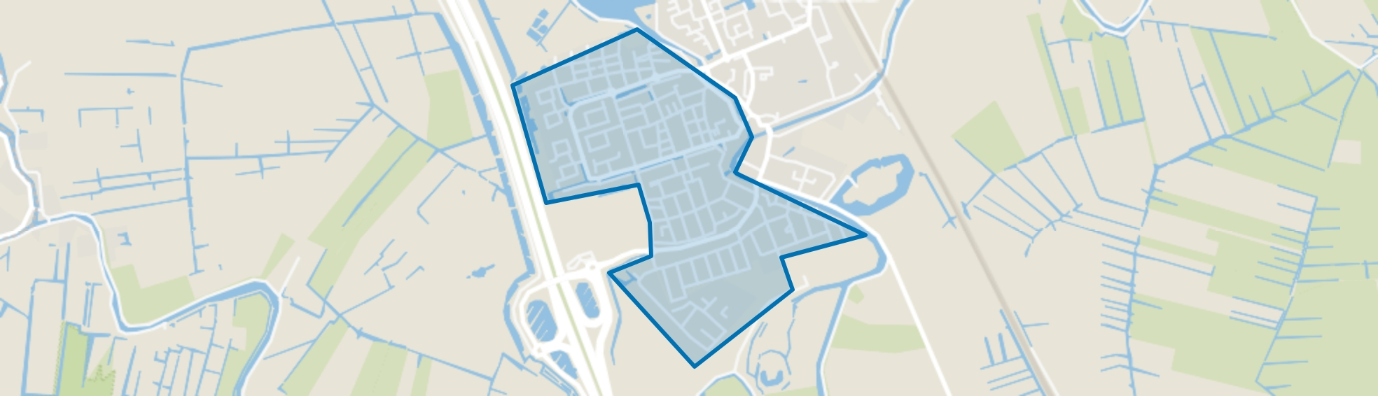 Abcoude-Zuidwest, Abcoude map