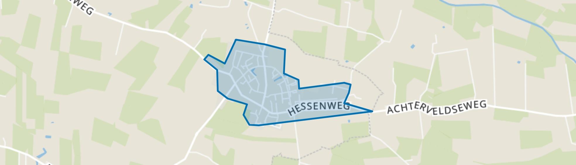 Kern Achterveld, Achterveld (UT) map