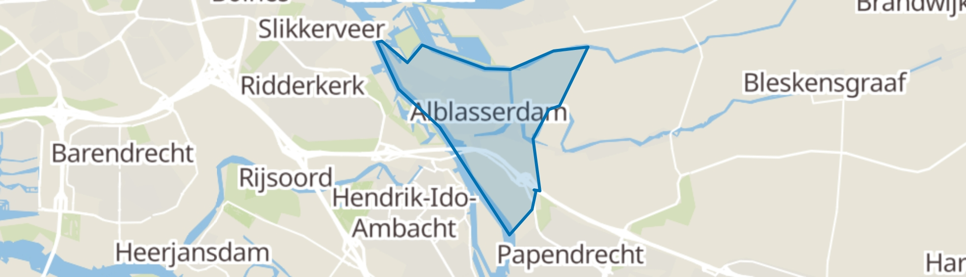 Alblasserdam map