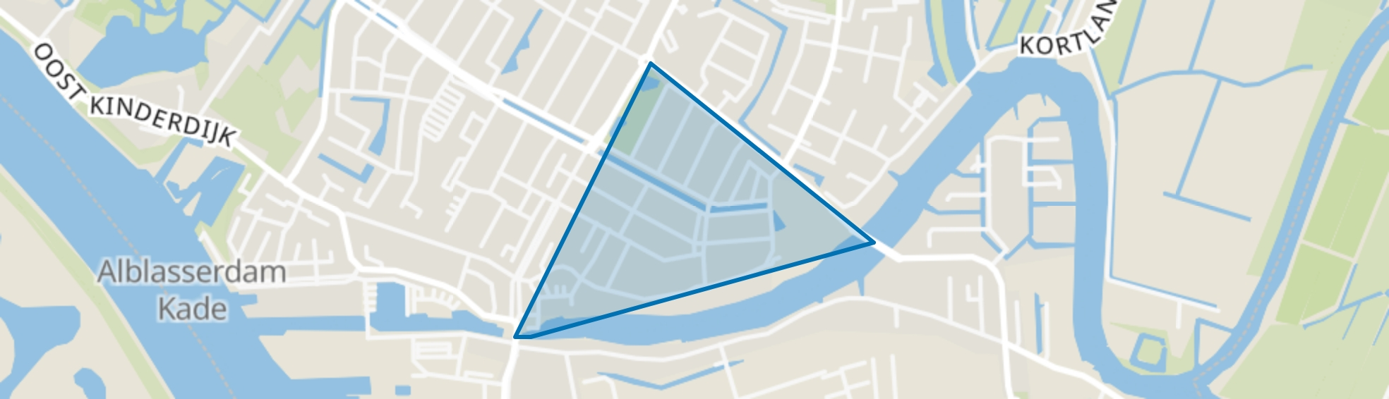 kerkbuurt, Alblasserdam map