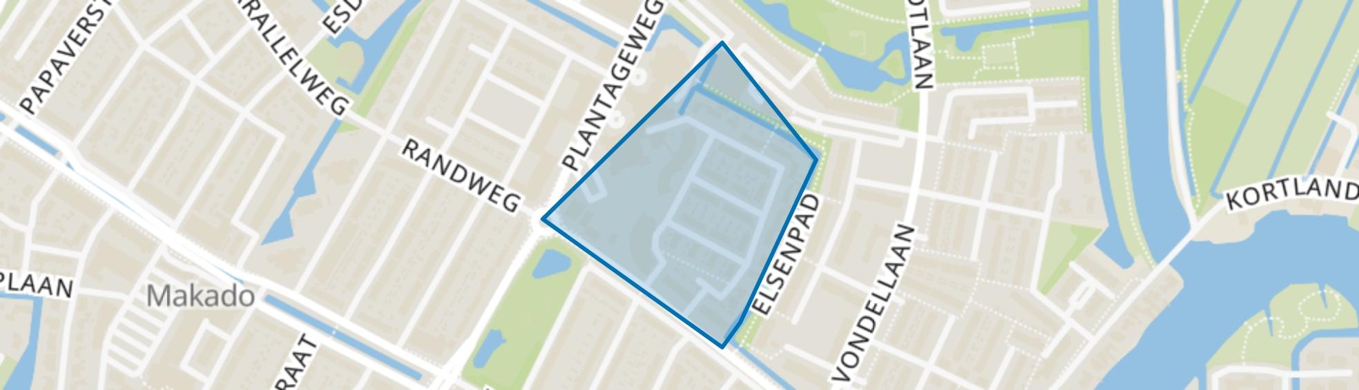 Oranjebuurt, Alblasserdam map