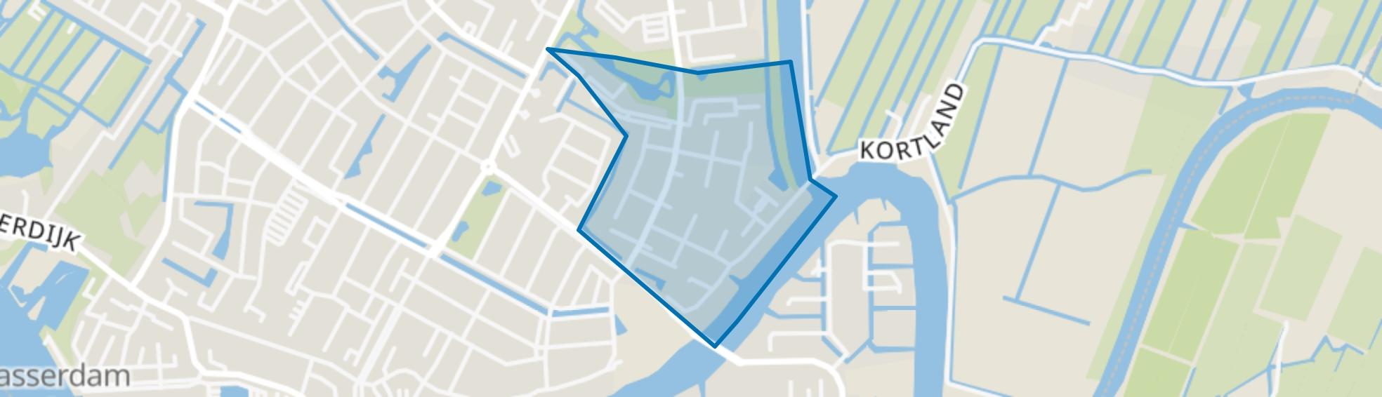 Schrijversbuurt, Alblasserdam map