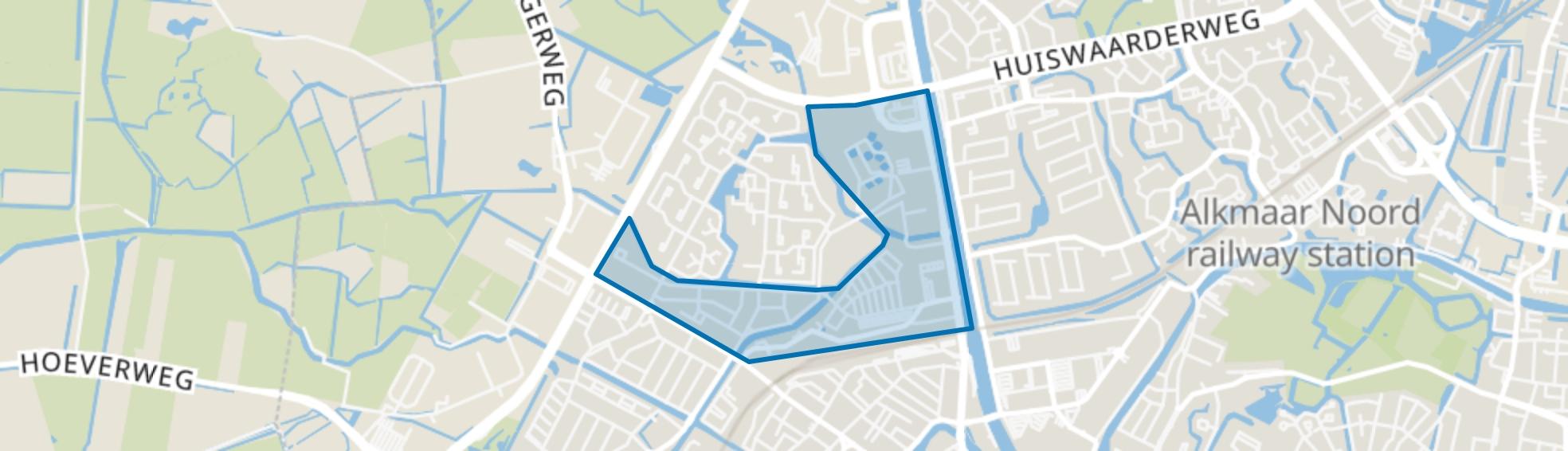Bergerhof en Blaeustraatkwartier, Alkmaar map
