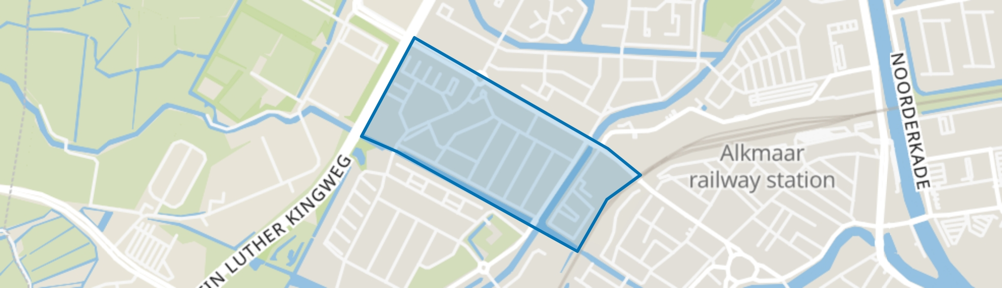 Bergerwegkwartier, Alkmaar map