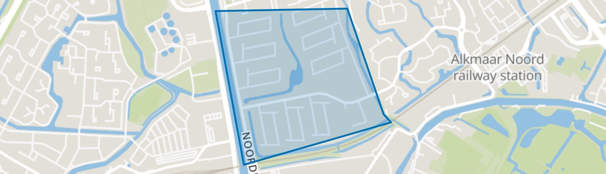 Huiswaard-1-Zuid, Alkmaar map