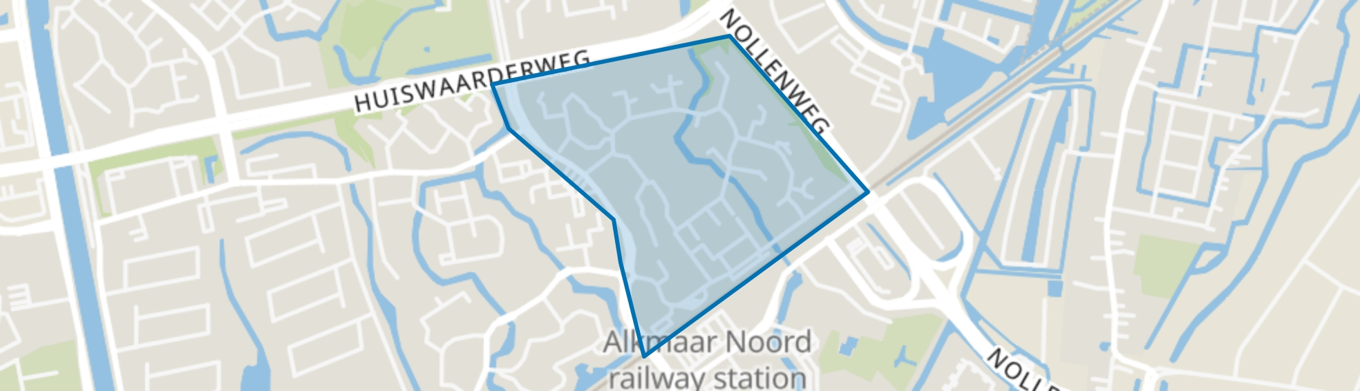 Huiswaard-2-Oost, Alkmaar map