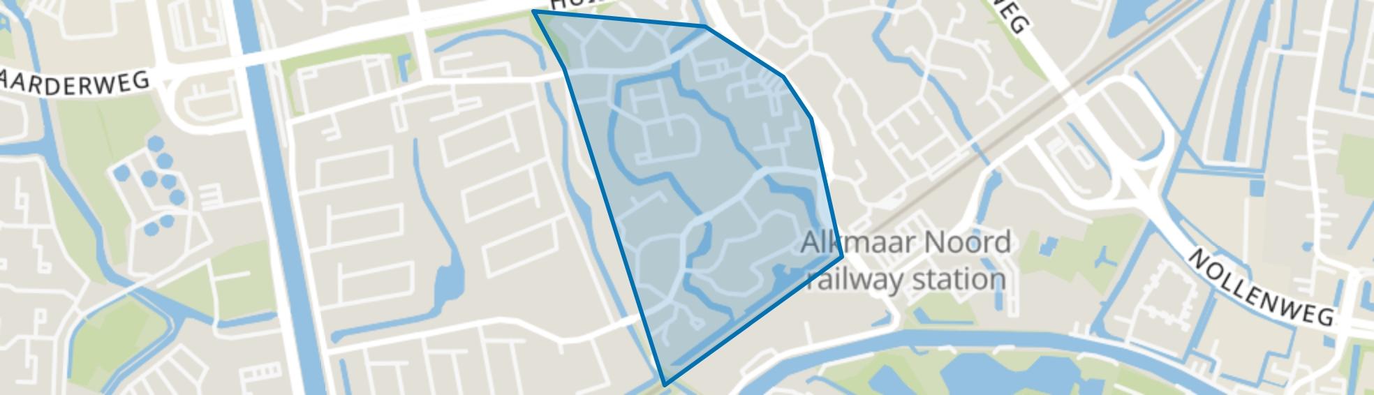 Huiswaard-2-West, Alkmaar map