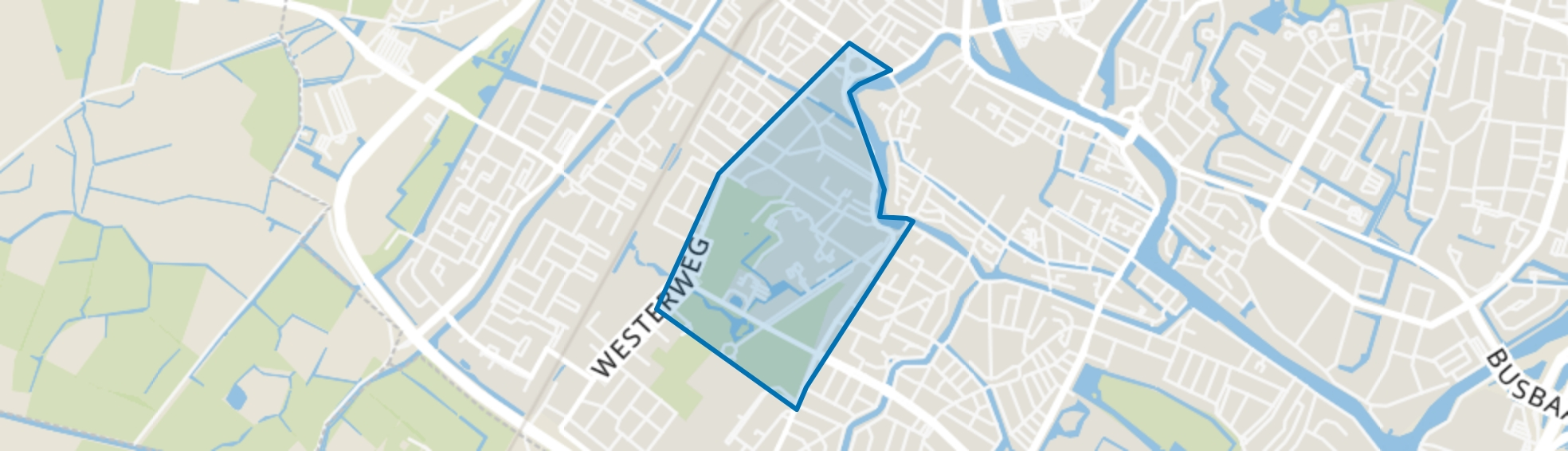 Nassaukwartier en Hout, Alkmaar map