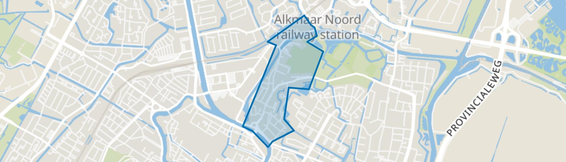 Rekerbuurt en Ooievaarsnest, Alkmaar map