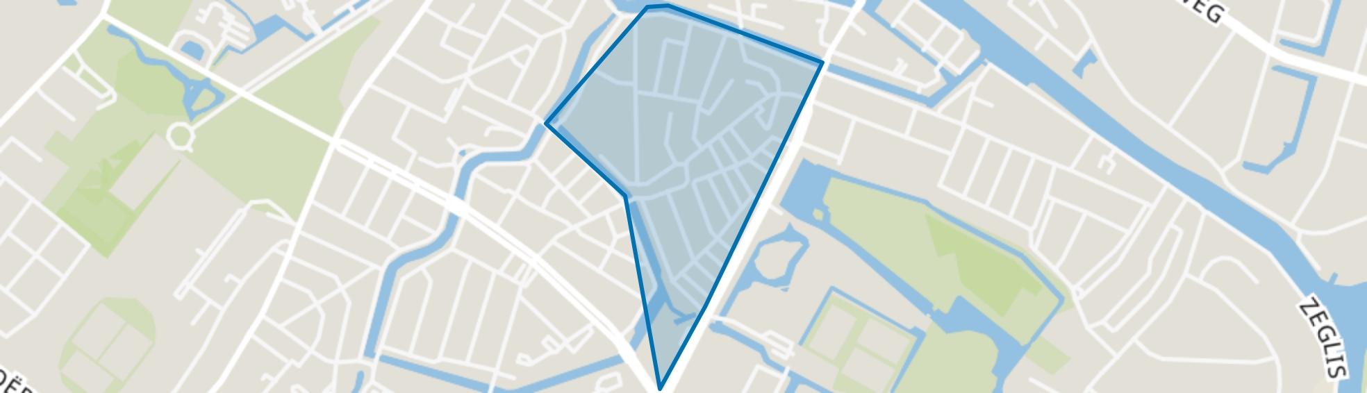 Staatsliedenkwartier en Landstraten, Alkmaar map