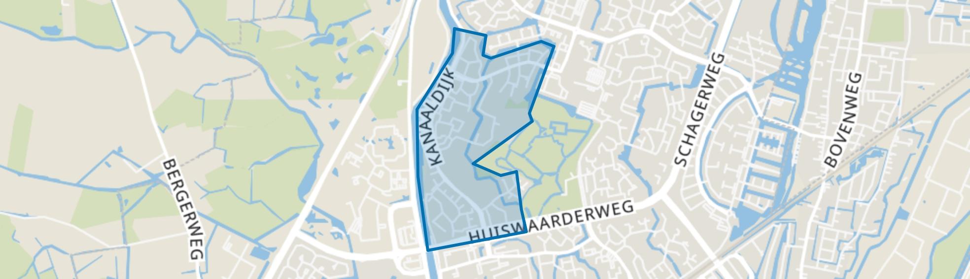 't Rak-Zuid, Alkmaar map