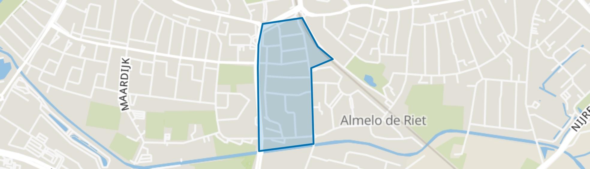 Ossenkoppelerhoek-Oost, Almelo map