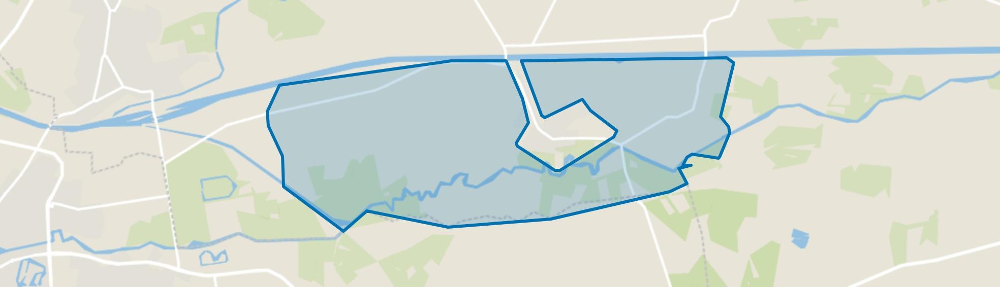 Verspreide huizen Almen ten zuiden van Twentekanaal, Almen map