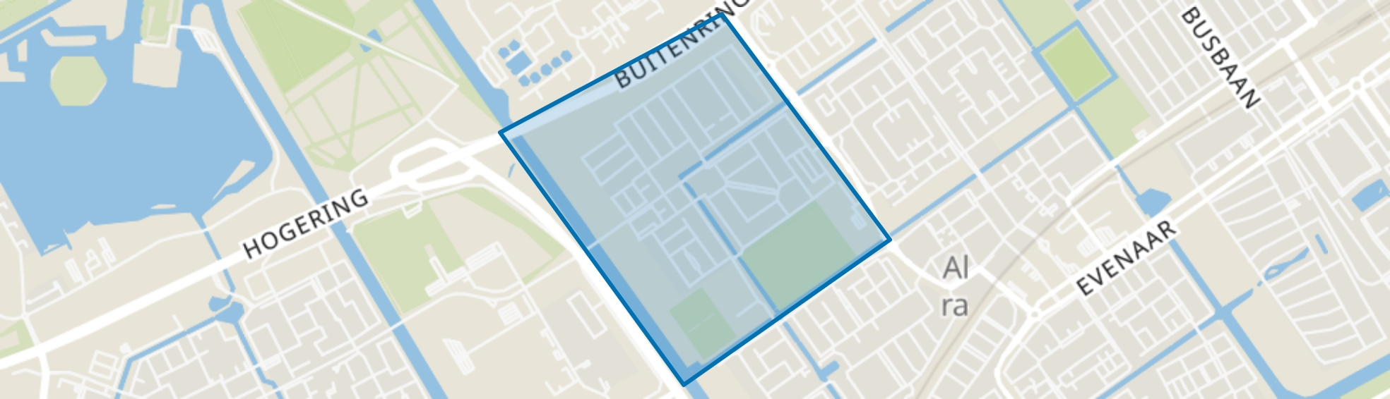 Bouwmeesterbuurt, Almere map