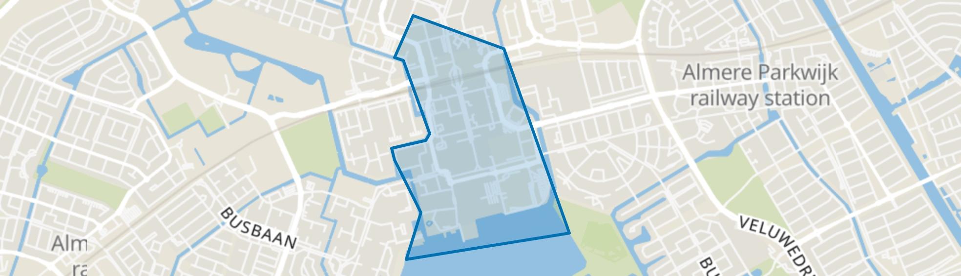 Centrum Almere Stad, Almere map