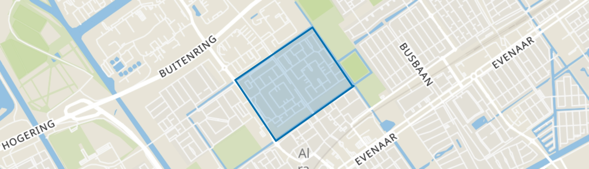 Molenbuurt, Almere map