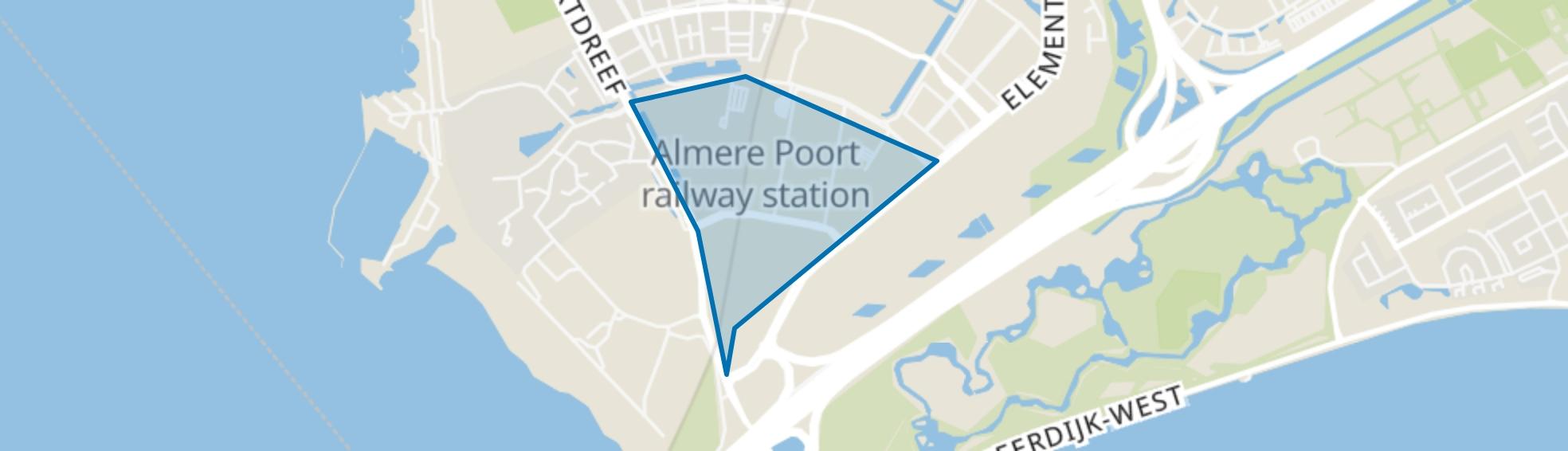 Olympiakwartier, Almere map
