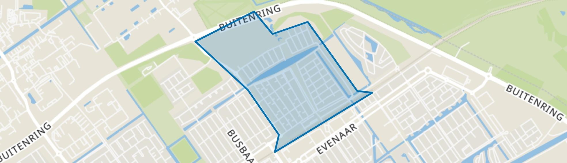 Oostvaardersbuurt, Almere map