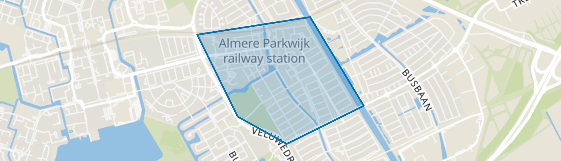 Parkwijk, Almere map