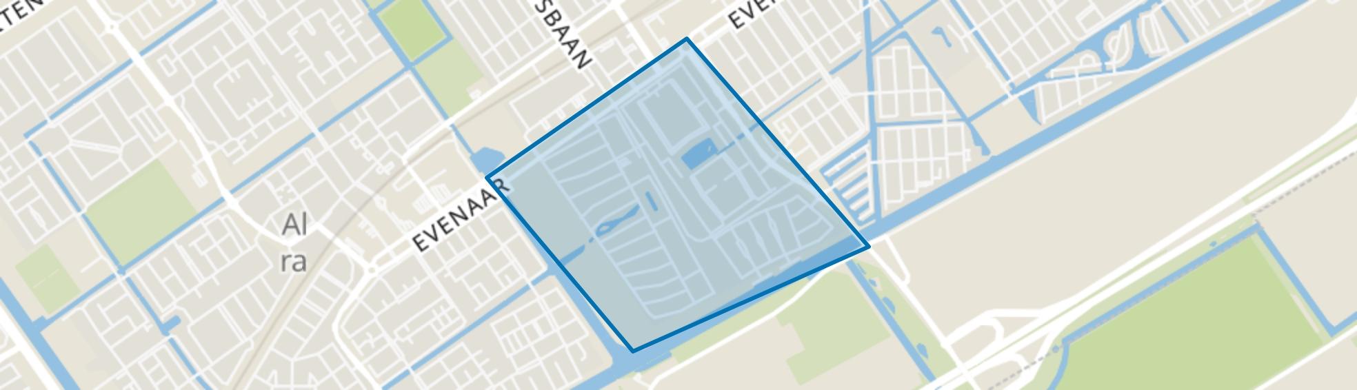 Regenboogbuurt, Almere map