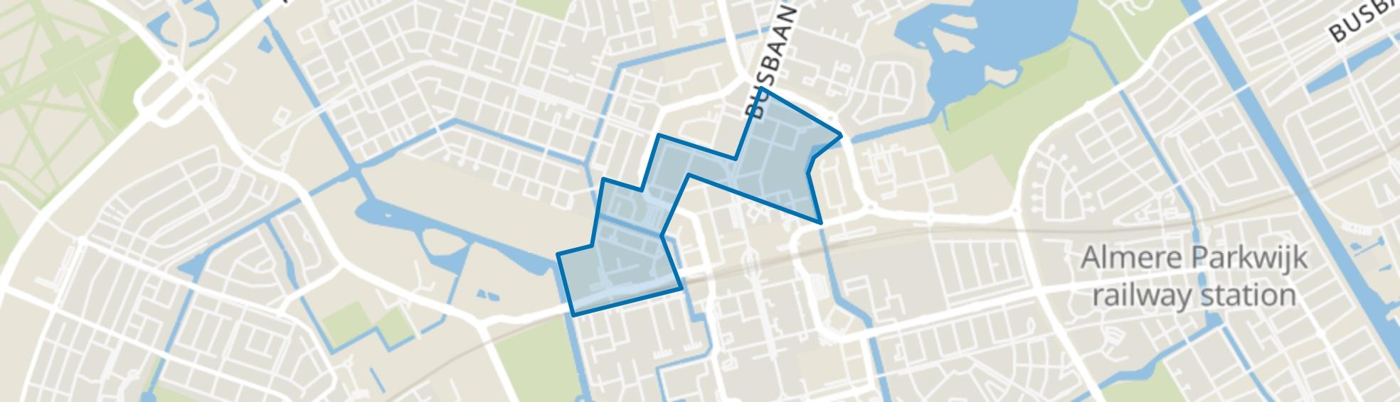 Staatsliedenwijk, Almere map