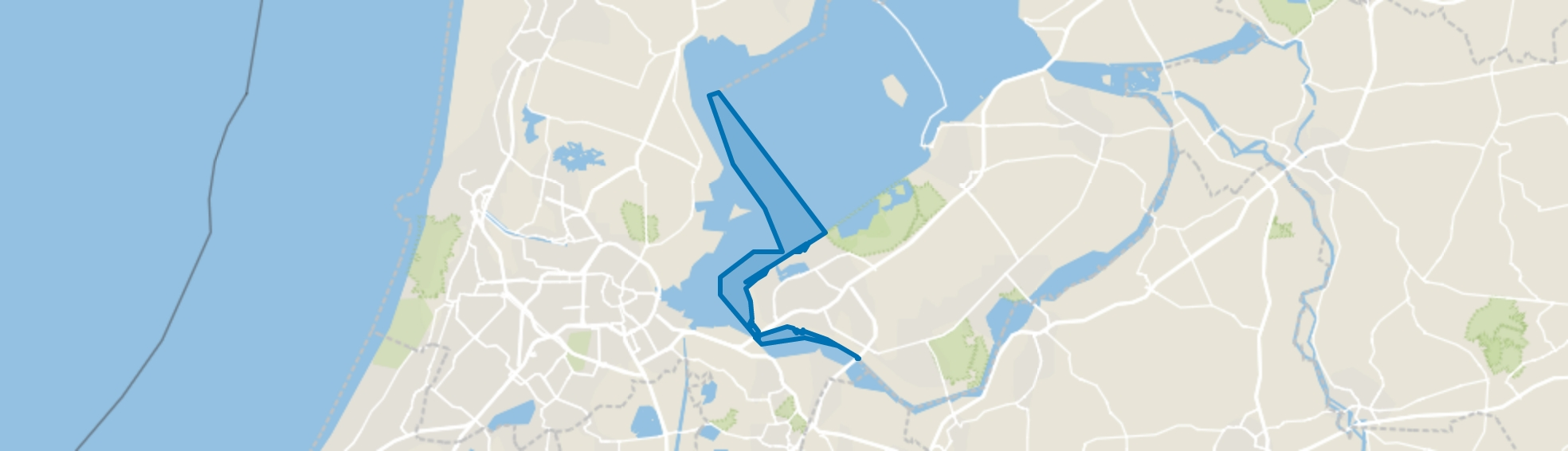 Water, Almere map