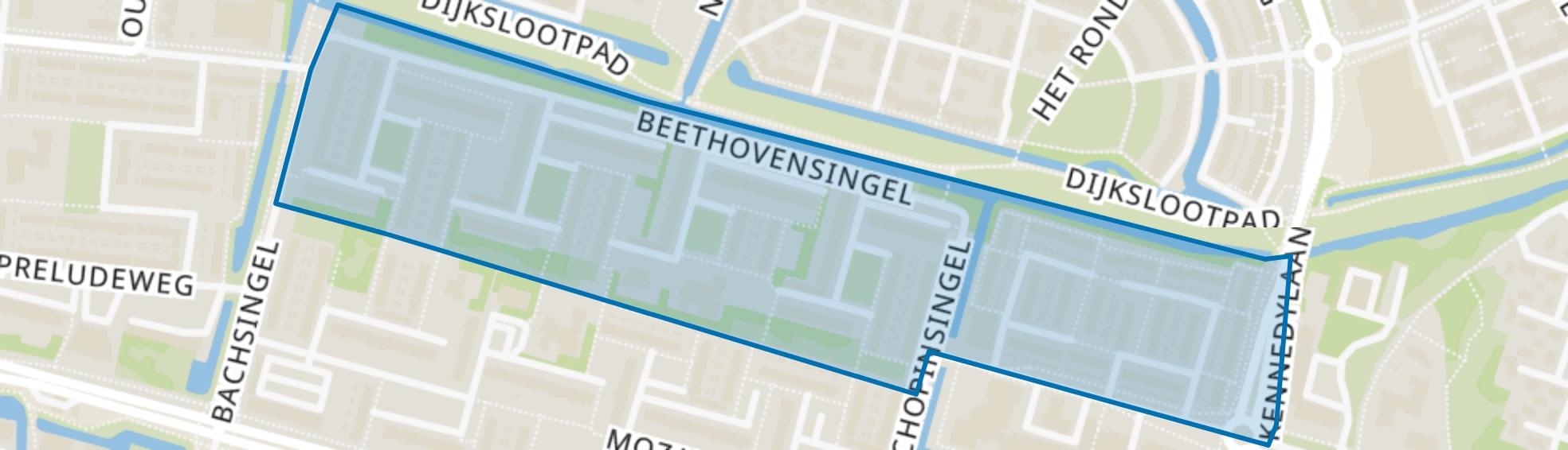 Componistenbuurt-Noord, Alphen aan den Rijn map