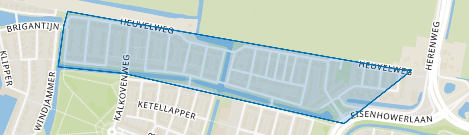 Heuvelweg, Alphen aan den Rijn map