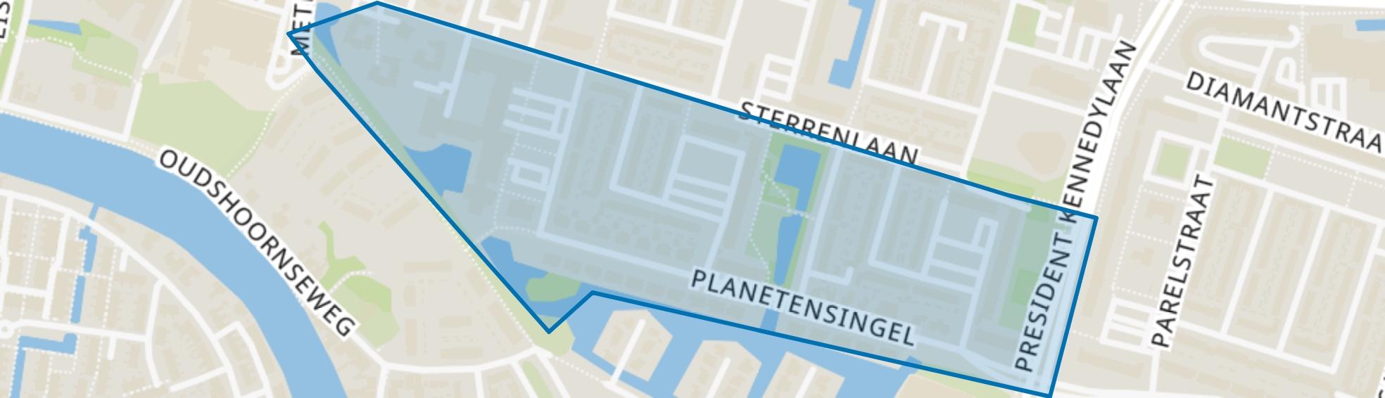 Planetenbuurt-Zuid, Alphen aan den Rijn map