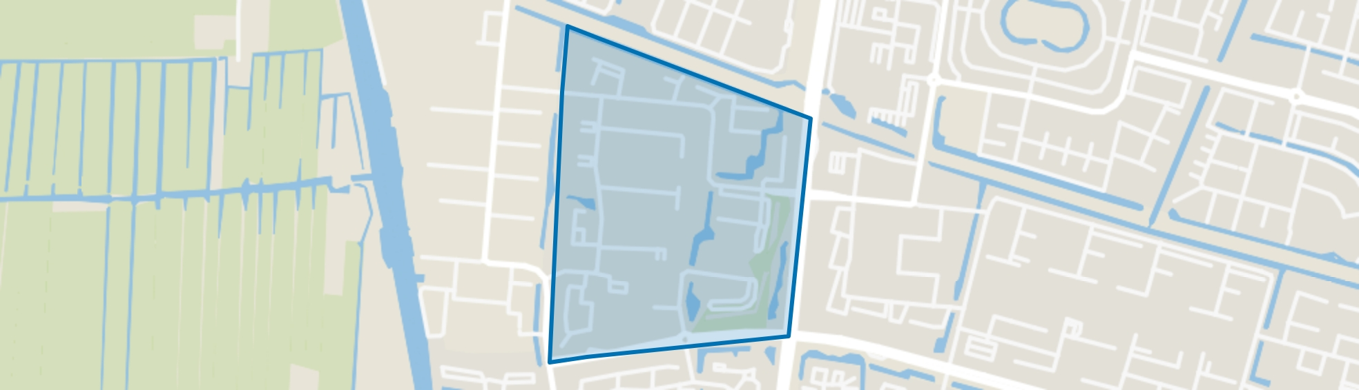 Stromenbuurt, Alphen aan den Rijn map
