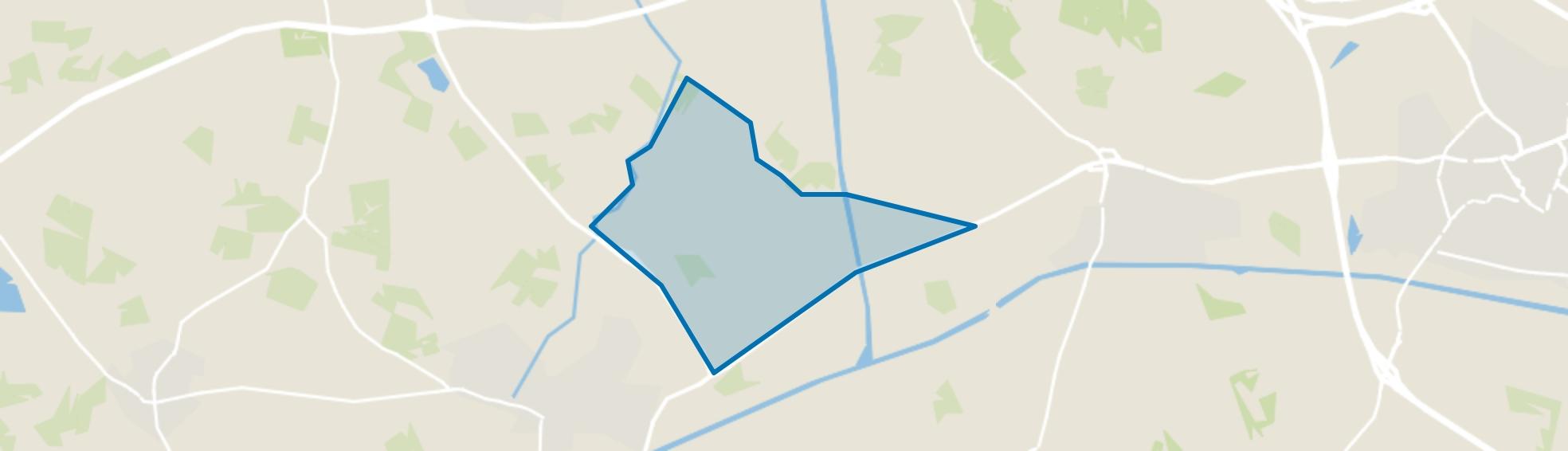 Verspreide huizen Zeldam, Ambt Delden map