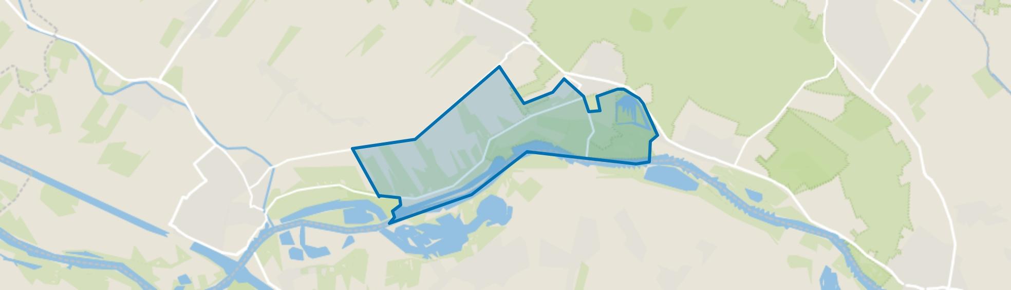 Verspreide huizen Lekdijk, Amerongen map