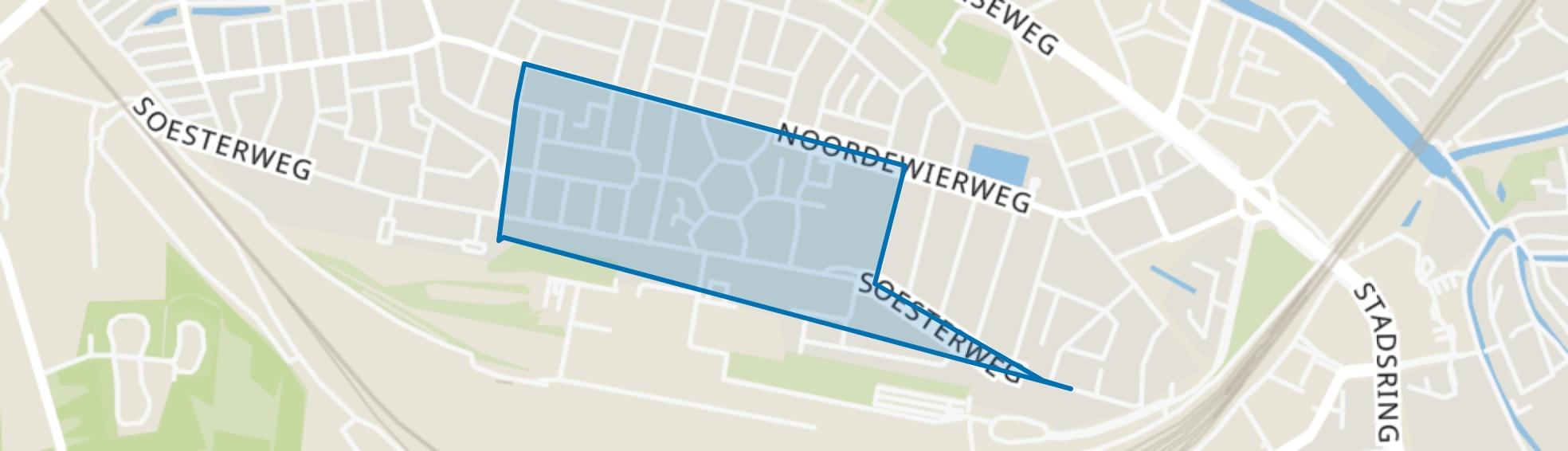 Bloemenbuurt-Oost, Amersfoort map