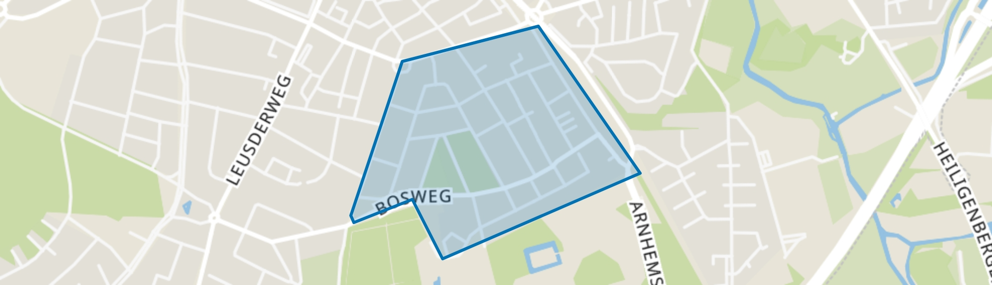 Bosweg, Amersfoort map