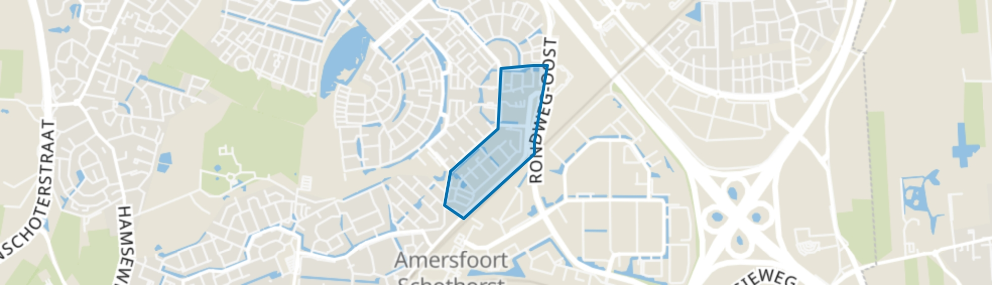 Erasmusstraat, Amersfoort map