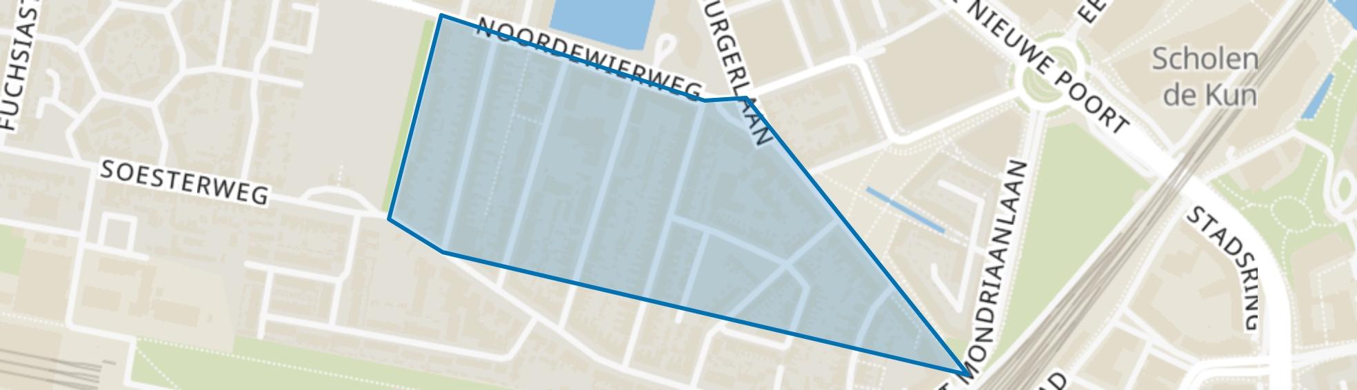 G. van Stellingwerfstraat, Amersfoort map