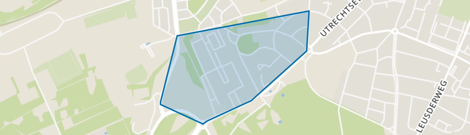 Oranjelaan, Amersfoort map