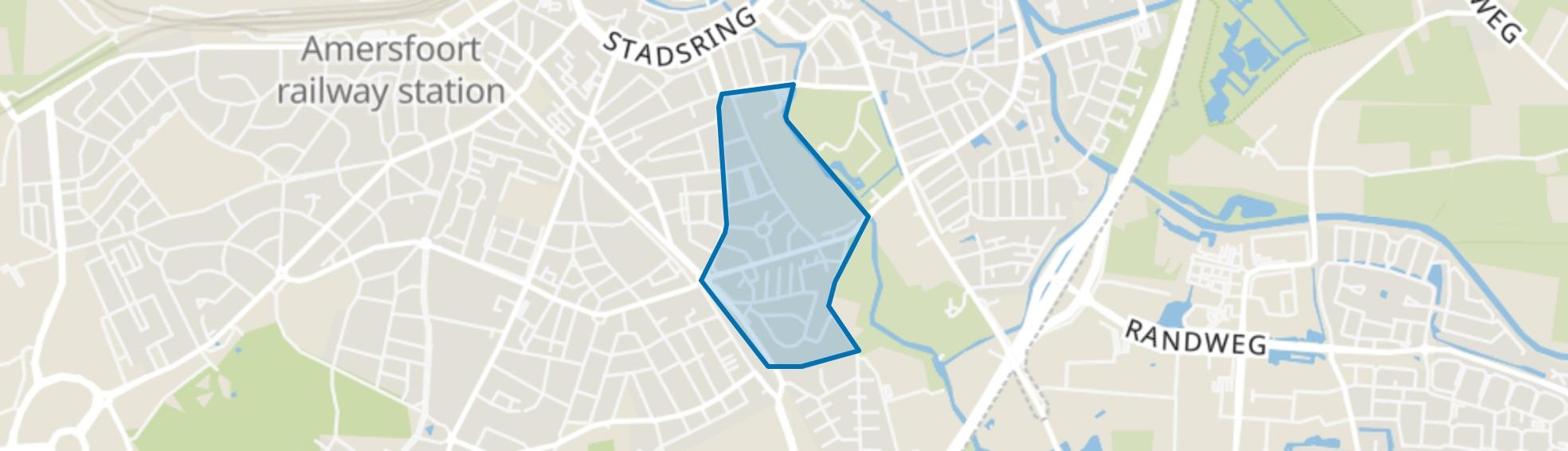Rubensstraat, Amersfoort map