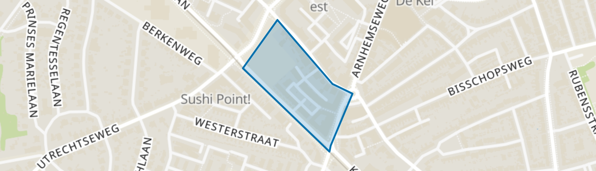 Weltevreden, Amersfoort map
