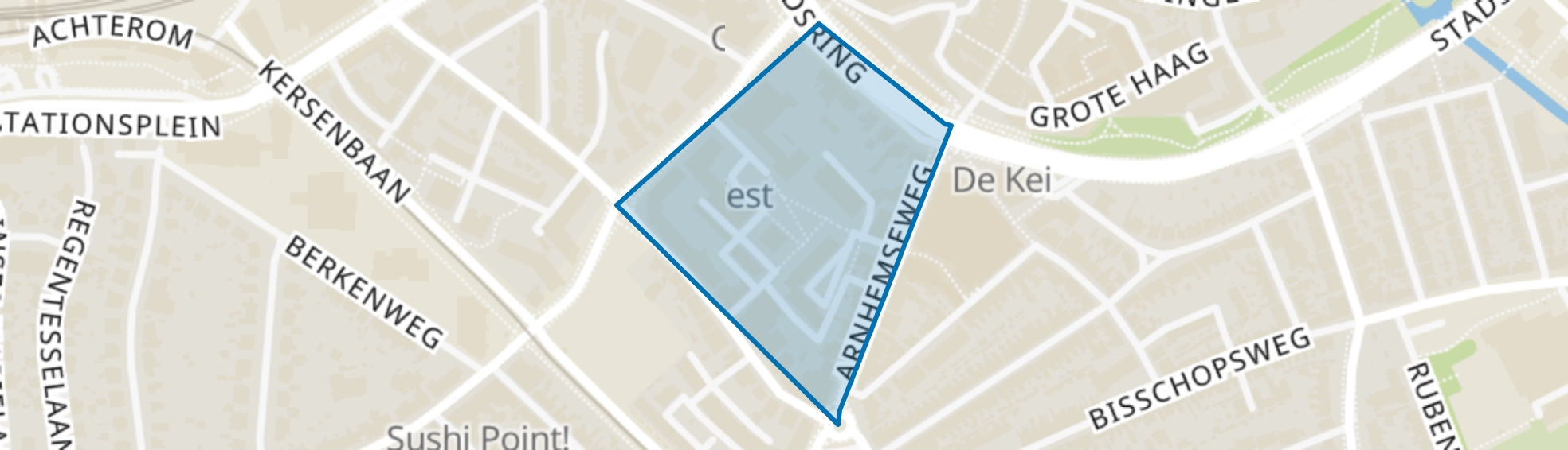Zonnehof, Amersfoort map