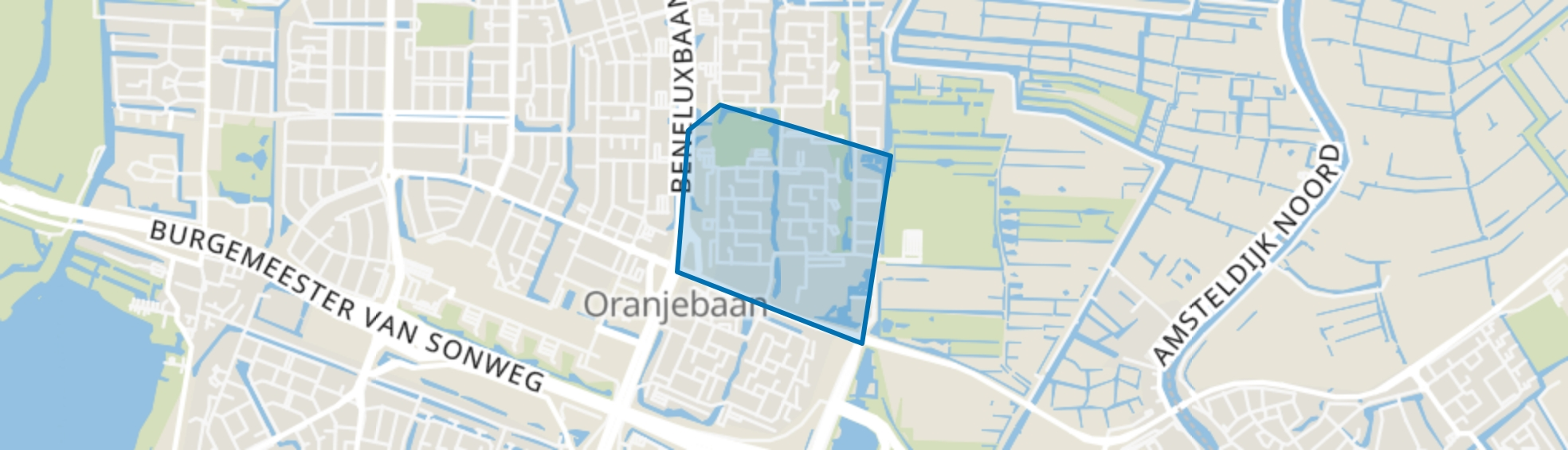 Boekenbuurt, Amstelveen map