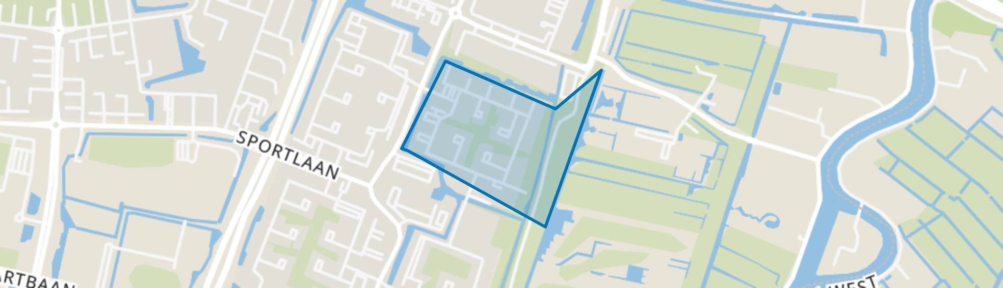In de Wolkenbuurt, Amstelveen map