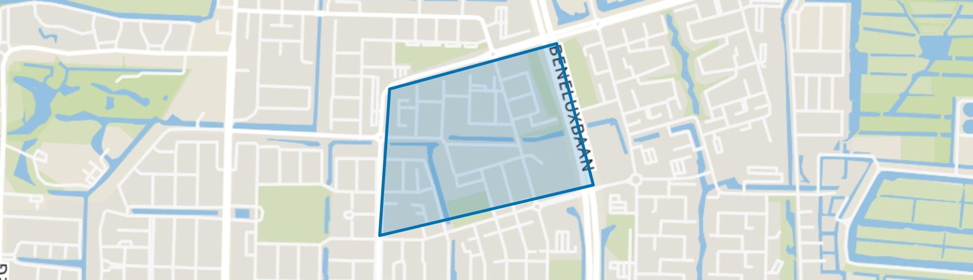 Vredeveldbuurt, Amstelveen map