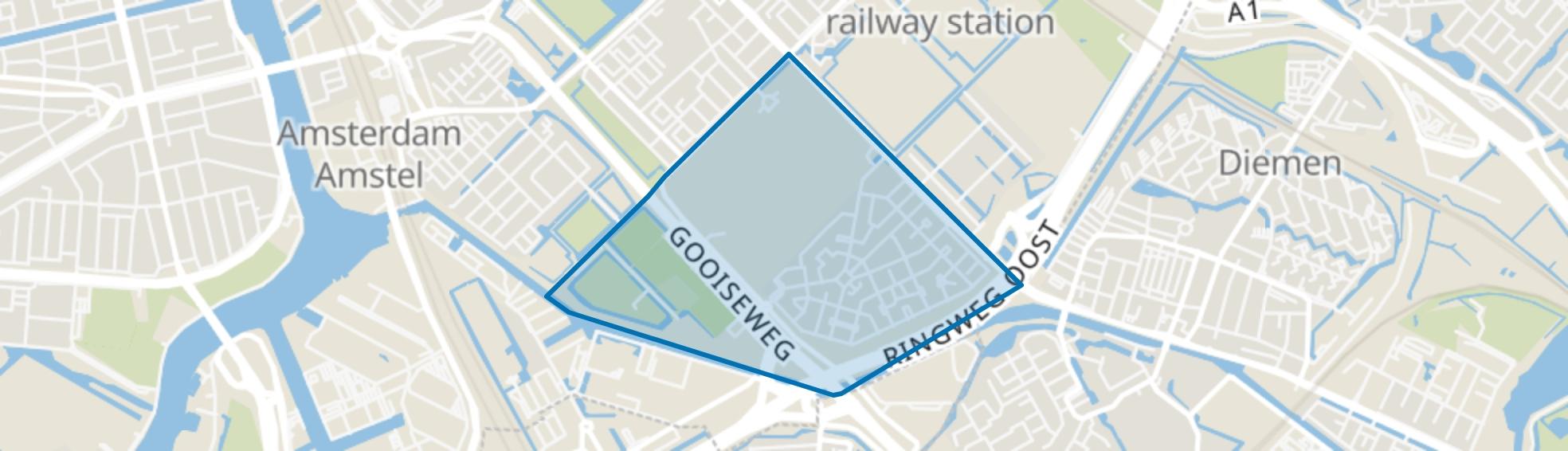 Betondorp, Amsterdam map