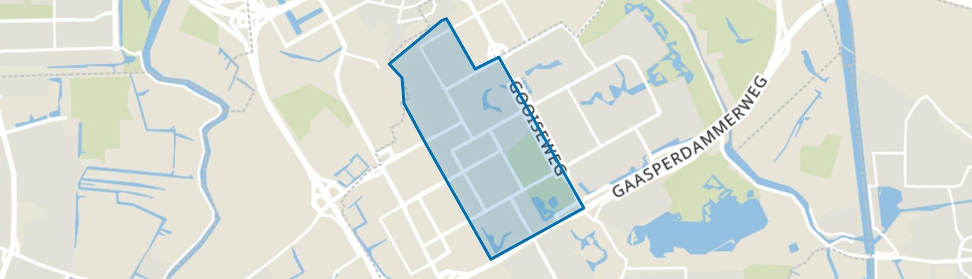 Bijlmer Centrum (D,F,H), Amsterdam map