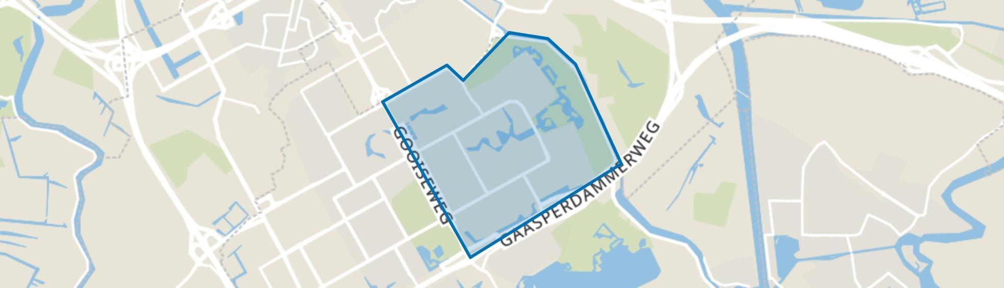 Bijlmer Oost (E,G,K), Amsterdam map