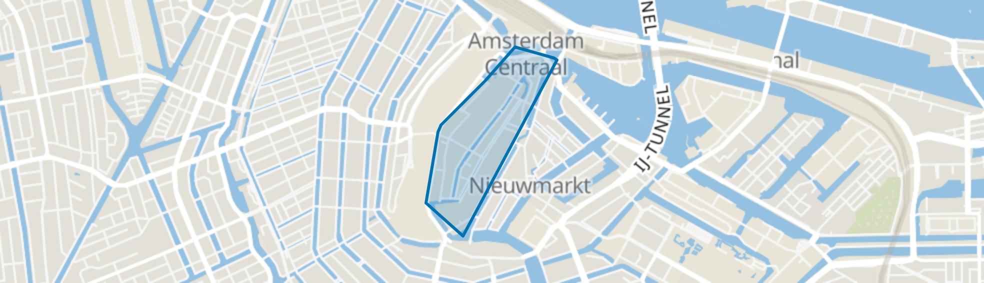 Burgwallen-Oude Zijde, Amsterdam map