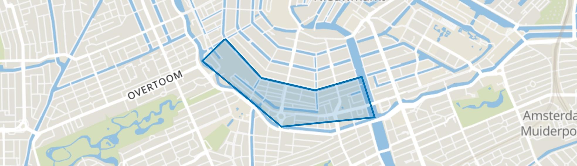 De Weteringschans, Amsterdam map