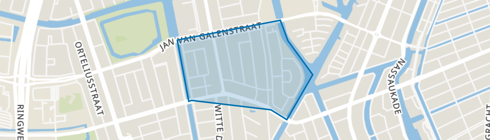 Geuzenbuurt, Amsterdam map