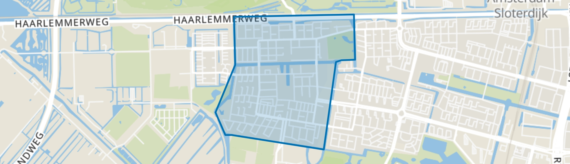 Geuzenveld, Amsterdam map